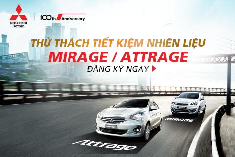 """Chương trình """"Thử thách tiết kiệm nhiên liệu"""" cùng Mitsubishi Mirage – Attrage"""