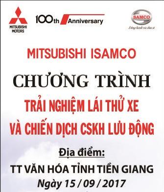 Trải Nghiệm Lái Thử Và Chăm Sóc Xe Lưu Động Cùng Mitsubishi ISAMCO