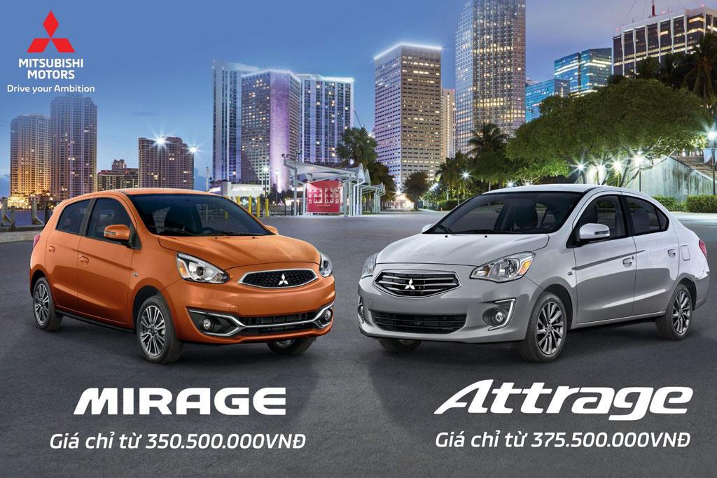 Giá mới hấp dẫn cho Attrage và Mirage trong tháng 10/2018