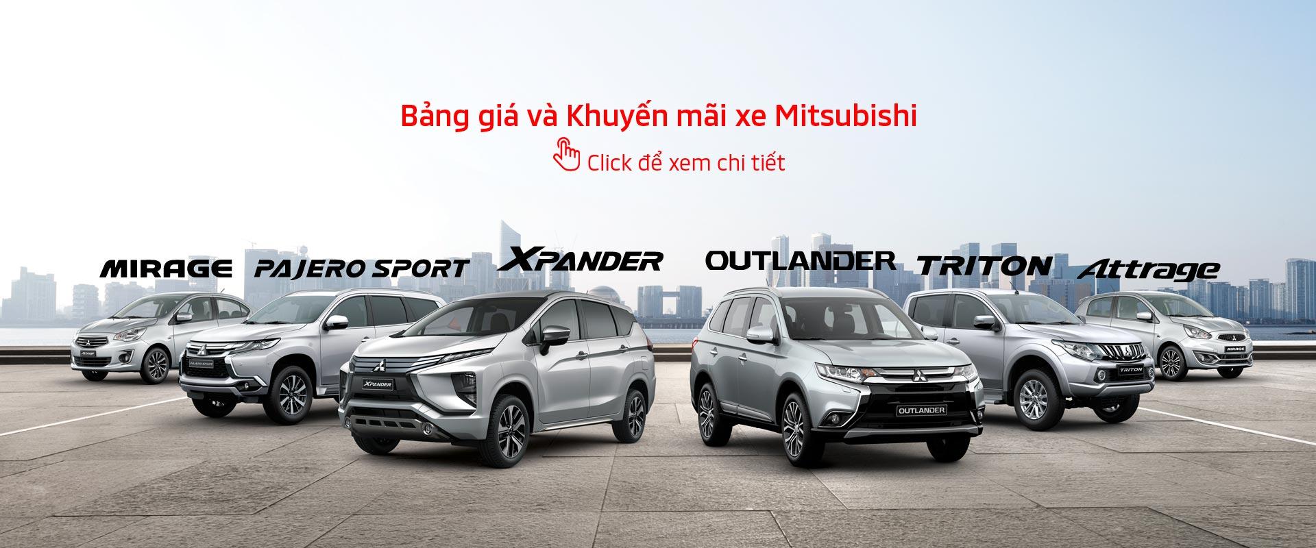 Bảng giá xe Mitsubishi tháng 01/2019